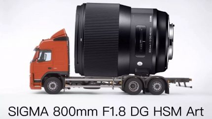 适马发布800mm F1.8 DG OS HSM Art