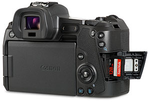 canon-eos-r-with-uhs-ii-sd-card-door-open-300