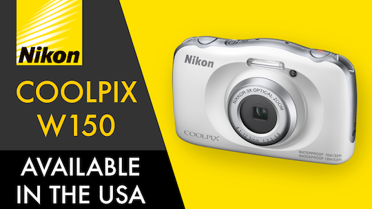 Nikon-Coolpix-W150-waterproof-and-shockproof-camera
